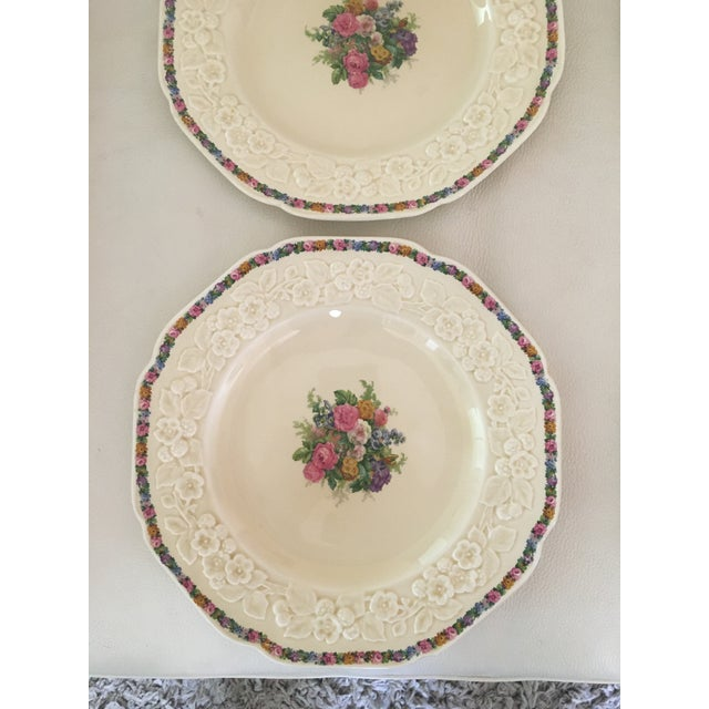 Set of 4 crown ducal china dinner plates
