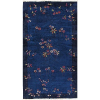 1920s Hand Made Antique Art Deco Chinese Rug - 10′ × 17′6″ For Sale