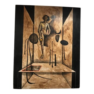 Early 20th Century Antique Surrealist Painting For Sale