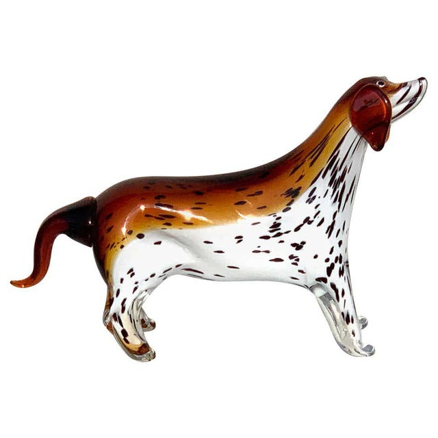 Murano Glass Figure of Spotted Dog For Sale - Image 12 of 12