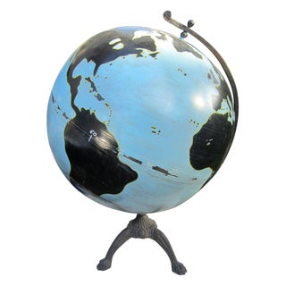 Oversize Painted Globe For Sale