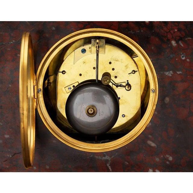 Mid 19th Century Napoleon III Sculptural Mantel Clock For Sale - Image 5 of 6