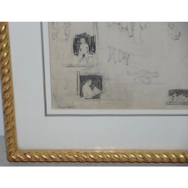 "1920s Eugene Higgins (1874-1958) ""Family Life"" Sketches C.1920's For Sale - Image 5 of 11"