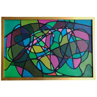 Lois Foley Vintage Color Field Abstract Painting