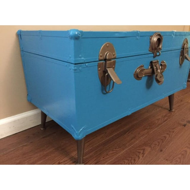 Blue Steamer Trunk Table - Image 3 of 6