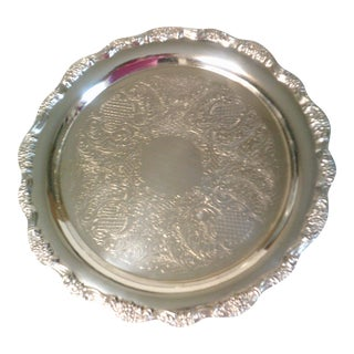 Towle Ep Silver Plate Round Platter