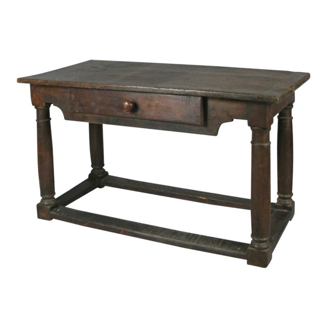 18th Century Antique Italian Walnut Table For Sale