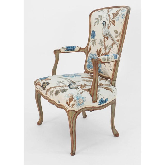 Frederick P. Victoria & Son, Inc. Cole Porter Louis XV Style Armchair For Sale - Image 4 of 9