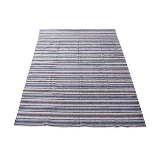 Persian Striped Kilim Rug - 8′3″ × 9′7″ For Sale