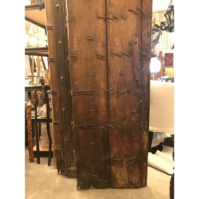 Original Antique Salvaged Hand-Made Indian Doors For Sale - Image 10 of 12