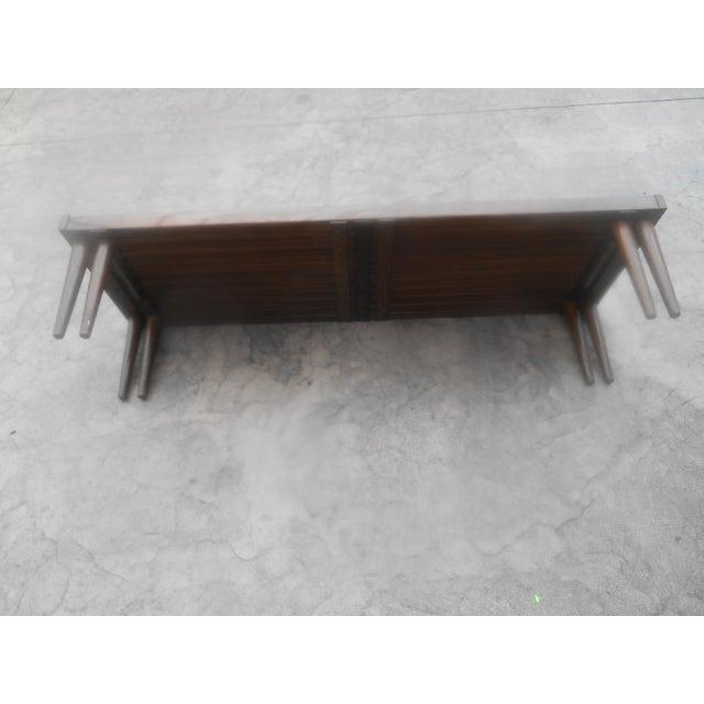 Brown Saltman Mid-Century John Keal for Brown-Saltman Expandable Slat Bench For Sale - Image 4 of 8
