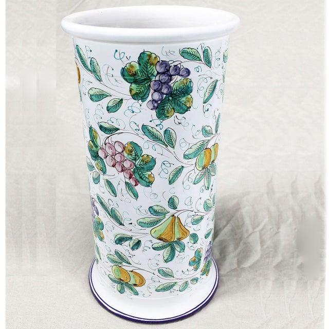 Vintage Italian Castelli Pottery Umbrella Stand Signed L. Pardi - Image 2 of 11
