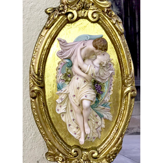 Antique Italian Rococo Gold Gilded Mirror - Image 5 of 10