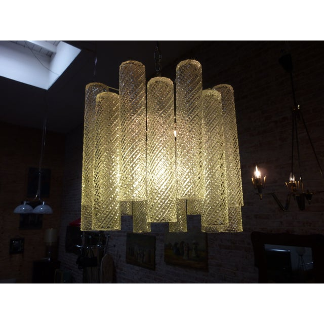 1960 Austrian Glass Chandelier - Image 4 of 5