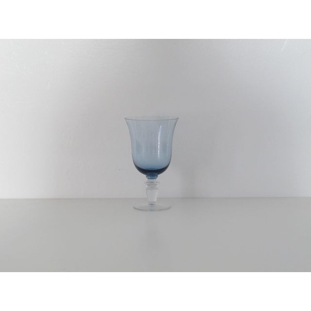 Blue Glass Goblets - Set of 8 - Image 4 of 5