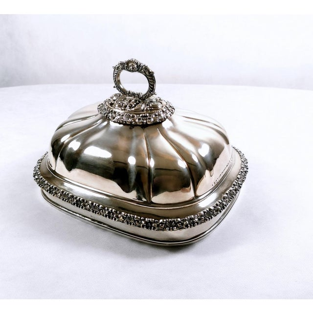 Old Sheffield Plate Dome Shaped Dish Cover With Tray William IV 1835 - 2 Pieces For Sale - Image 12 of 12