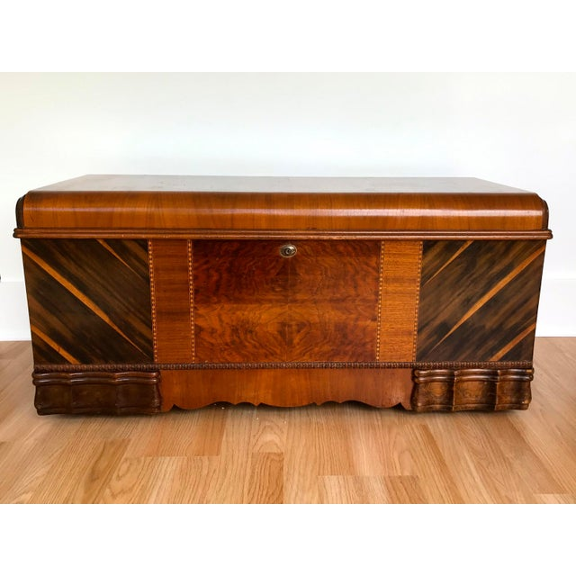 Art Deco Waterfall Storage Trunk For Sale - Image 13 of 13