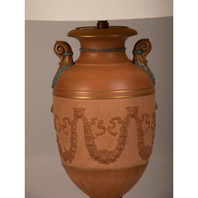Antique Italian Neoclassical Terracotta Urn Now Mounted as a Lamp, circa 1880 For Sale In Houston - Image 6 of 7