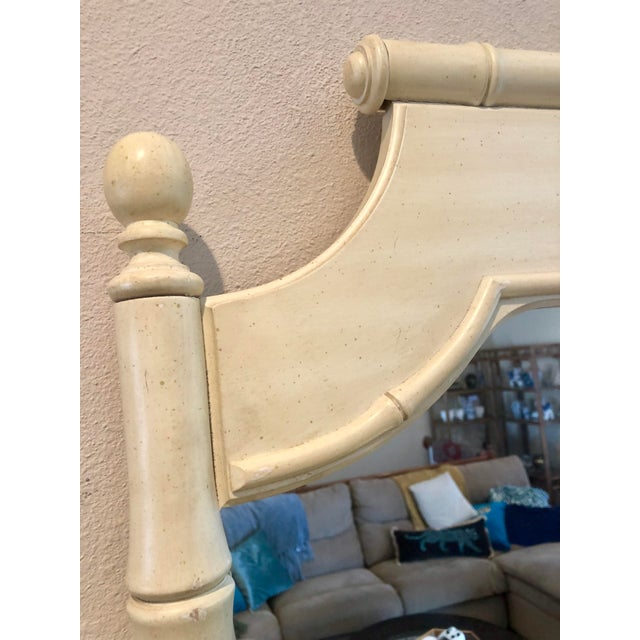 Asian Vintage Faux Bamboo Mirror For Sale - Image 3 of 5