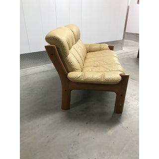 1970s Vintage j.e. Ekornes, Norway for Ekornes Stressless Montana Solid Teak Three Seat Sofa Preview