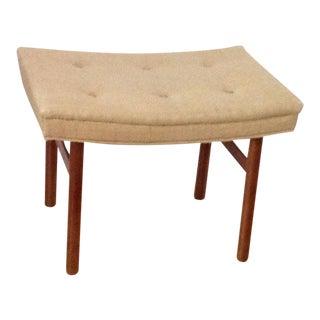 Vintage Mid Century Modern 60s Bench/Stool/Ottoman Seat Dunbar Gibbings Nelson Style For Sale
