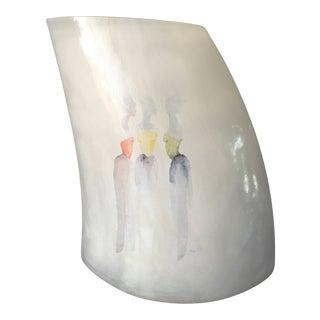 "Vintage Kosta Boda ""Catwalk"" Series Vase, Etched Signature & Numbered by Artist For Sale"