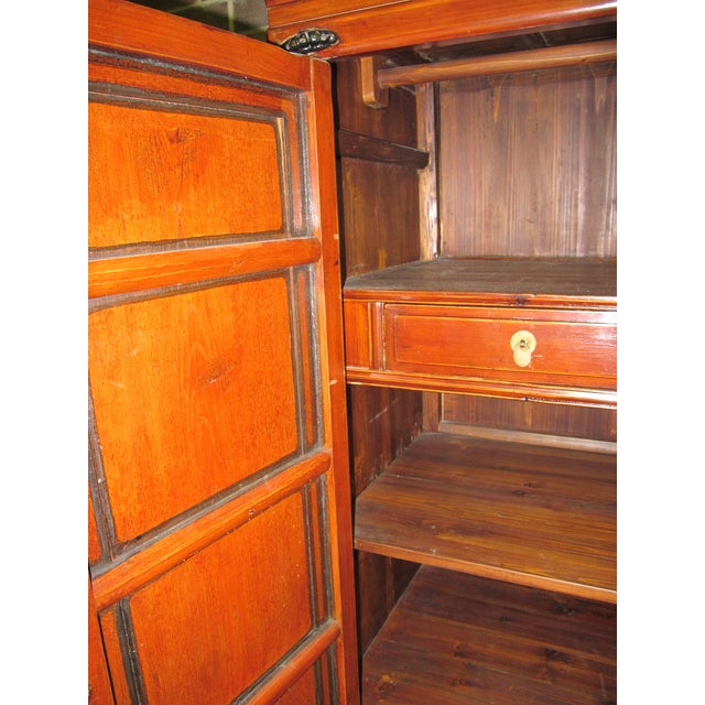 Antique Chinese Elmwood Armoire For Sale In New York - Image 6 of 7