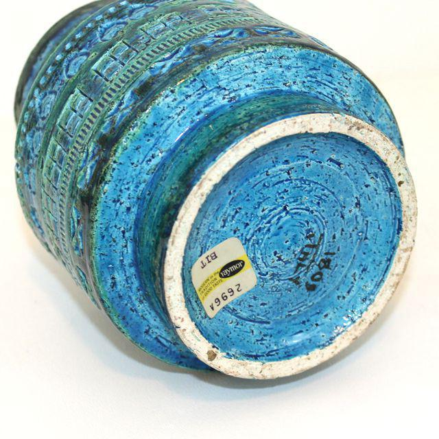 Aldo Londi for Bitossi Rimini Blue Pottery Vase - Image 3 of 5