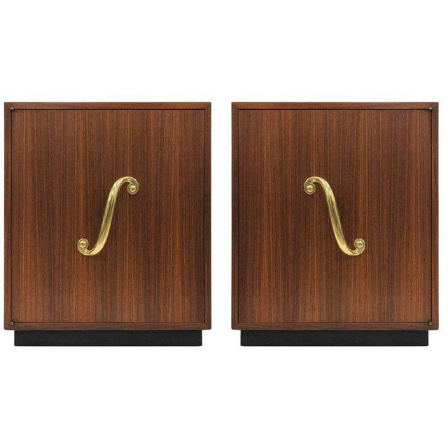 Bronze Pair of James Mont Cabinets or Nightstands For Sale - Image 7 of 7