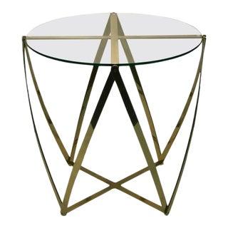 John Vesey Modern Brass Table For Sale