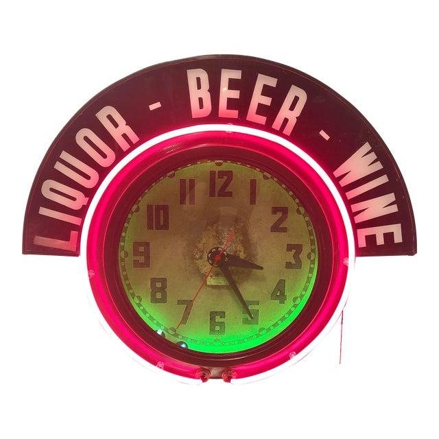 Neon Clock For Sale