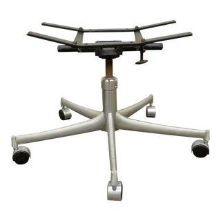Vintage Mid Century Modern Aluminium Office Desk Chair Swivel Swag Rolling Base