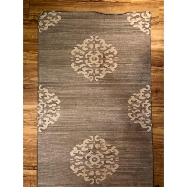This Madeline Weinrib Mandela runner was handmade in India and purchased from ABC Carpet and Home in New York City. The...