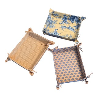 Pierre Deux Fabric Storage Trays - Set of 3