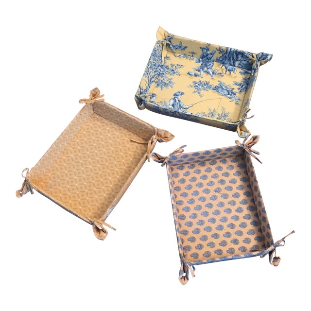 Pierre Deux Fabric Storage Trays - Set of 3 For Sale