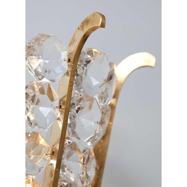 Mid-Century Modern Austrian Beaded Crystal Sconces - A Pair For Sale - Image 3 of 5