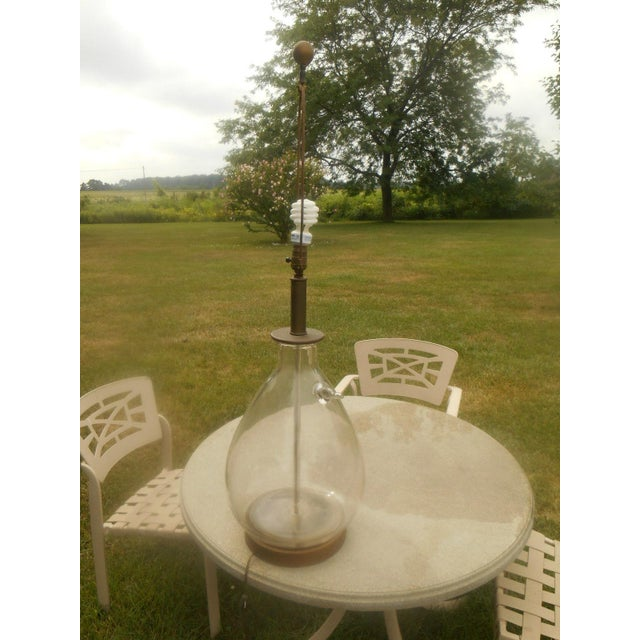 Mid-Century Modern Mid-Century Hand-Blown Glass Table Lamp For Sale - Image 3 of 5