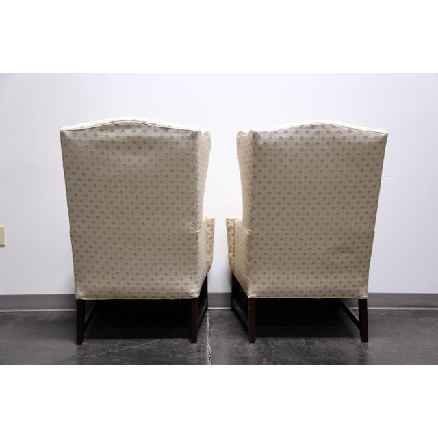 Chippendale Style Mahogany Wing Back Chairs by Conover Chair Co - Pair For Sale - Image 5 of 11
