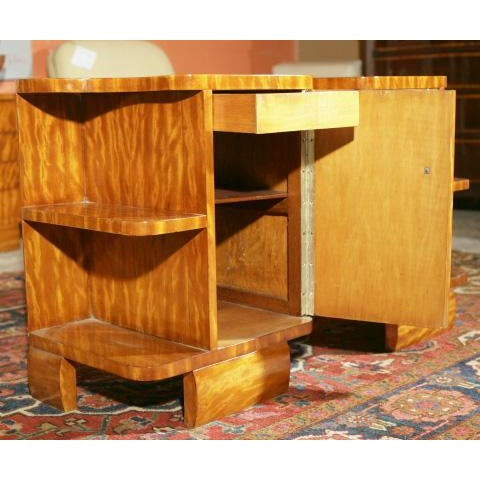 Art Deco Burl Wood Nightstands - A Pair - Image 6 of 8