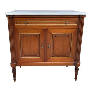 1910s French Louis XVI Antique Mahogany Sideboard/Credenza For Sale