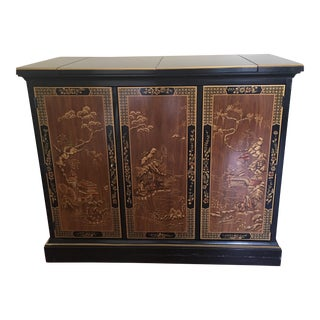 Drexel Heritage Chinoiserie Black Lacquer Buffet Server