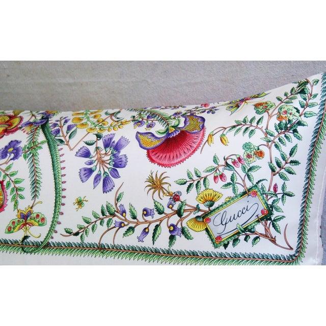 Designer Italian Gucci Floral Fanni Silk Pillow - Image 7 of 11