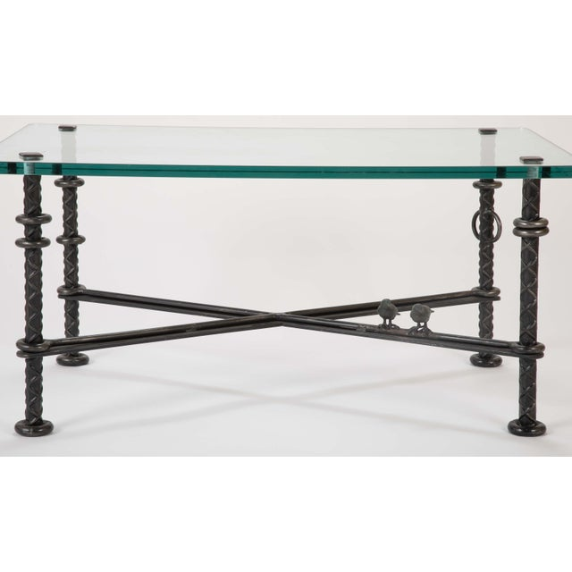 Patinated Wrought Iron Coffee Table by Llana Goor For Sale - Image 10 of 13