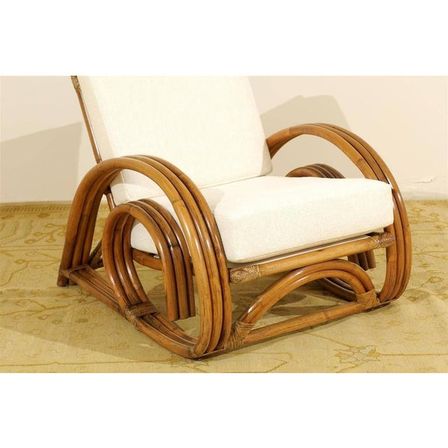 Decorative Pair of Restored Vintage Curvilinear Rattan Loungers, circa 1940 For Sale - Image 10 of 10
