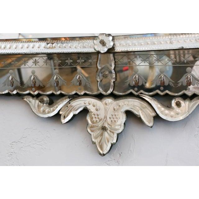Large Rectangular Venetian Mirror For Sale - Image 4 of 12