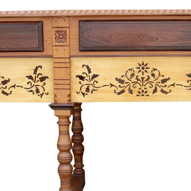 Anglo Indian Rosewood Carved Console For Sale - Image 4 of 6