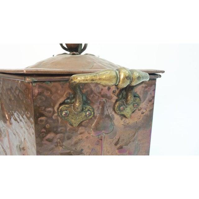 Art Nouveau Coal Scuttle For Sale - Image 4 of 6