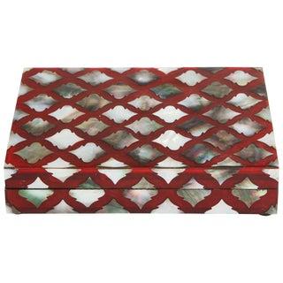 Moorish Influenced Abalone Shell Decorative Box For Sale