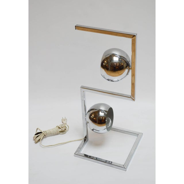 Mid-Century Modern Chrome Eyeball Lamp - Image 4 of 8