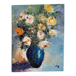 Julia Lu Floral Still Life Painting For Sale